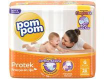 Fralda Pompom Protek Proteção de Mãe  - Tamanho G - 26 fraldas - Pom Pom
