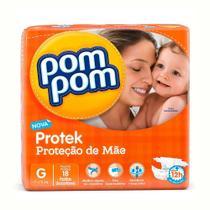 Fralda Pompom Protek Tamanho G 18 Und - Pom Pom