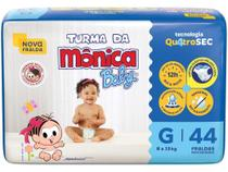 Fralda Turma da Mônica Baby Tam. G - 8 a 13kg 44 Unidades -