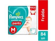 Fraldas Calça Pampers Pants Confort Sec Tam. M - 84 Unidades