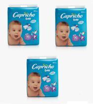 Fraldas Descartáveis-Capricho Baby- P 288 unidades -