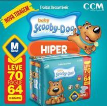 Fraldas Descartáveis Infantil Scooby-Doo-M-70 unidades - Ccm
