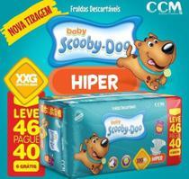 Fraldas Descartáveis Infantil Scooby-Doo XXG - 46 unidades -