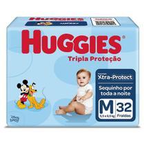 Fraldas Descartáveis Tripla Proteção Jumbo Tamanho M Huggies Mickey e Amigos -