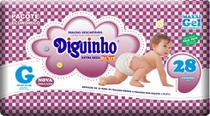 Fraldas Diguinho Plus Economica G - 28 Unidades Barato -