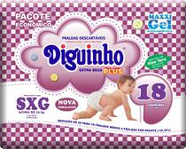 Fraldas Diguinho Plus Economica SXG - 18 Unidades -