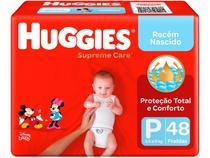 Fraldas Huggies Supreme Care  - Tam. P 0 a 6kg 48 Unidades