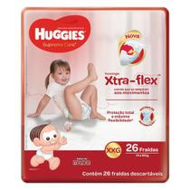 Fraldas Huggies Supreme Care Xxg 26 U -