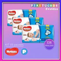 Fraldas Huggies Tripla Ação - Kit 03 Pcts P -