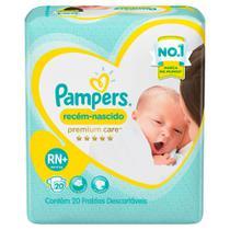 Fraldas Pampers Recém-Nascido Premium Care RN+ 20 Unidades -
