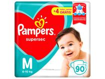 Fraldas Pampers Supersec Tam. M - 90 Unidades