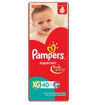 Fraldas Pampers Supersec XG 40 Unidades