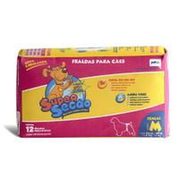 Fraldas Para Cães Super Secão Fêmeas M 12 Unidades - Petix