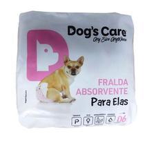 Fraldas Para Fêmeas Dogs Care Tam P - 6 unidades (Cadelas de 3 a 6kg) - Neon Pet Shop