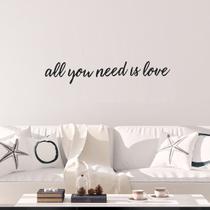 Frase All You Need Is Love de Parede Decorativo Mdf Aplique Sala Quarto Casa Letras Palavras - Mongarte decor