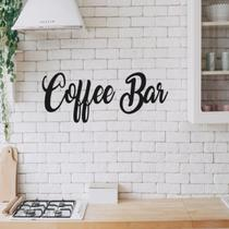 Frase Coffee Bar Mod 3 Letras Palavras Mdf Aplique De Parede Decorativo de Cozinha Preto - Mongarte decor