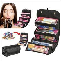 Frasqueira de viagem maleta necessaire organizador de cosmeticos e maquiagem portatil bolsa - MAKEDA