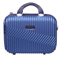 Frasqueira de viagem rígida, maleta de mão organizadora de bagagem, necessaire para maquiagem - Geometric - Santino -
