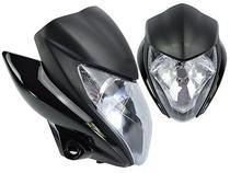 Frente Farol Bloco Optico + Carenagem Frontal Com Bananinha Honda Cb300 Cb 300 Cb300r Preta - FOCO
