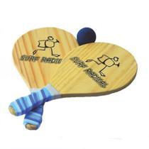 Frescobol de Madeira Reforçado C bolsa Transporte Surf Radical Cores Sortidas -