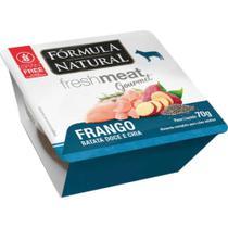 Fresh Meat Gourmet Patê para Cães Sabor Frango Caixa 4 Unidades de 70 g - Fórmula Natural