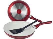 Frigideira Cerâmica Antiaderente Vermelha 26cm com Espatula - Idea