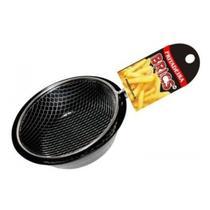 Frigideira Fritadeira Com Tela 18 Cm Cesto Frita Batata - Brics