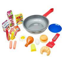 Frigideira Para Cozinha Completa Infantil Brinquedos Gourmet - Toyng