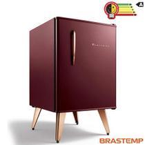 Frigobar Brastemp Retrô com 76 Litros de Capacidade e Controle Automático de Temperatura Cycle Defrost Marsala - BRA08BG -