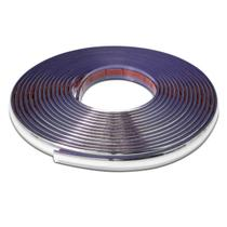 Friso Cromado Tuning 20mm para Grade Porta Parachoque Porta Malas Filete Universal 10 Metros - Mediterraneo