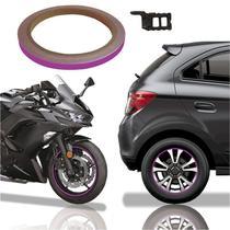 Friso De Roda Adesivo Não Refletivo Carro Aro Moto Honda Yamaha Suzuki Roxo - Cobra Motoparts