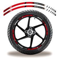 Friso de roda adesivo refletivo bmw s1000r vermelho e preto - Cobra Motoparts