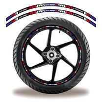 Friso de roda adesivo refletivo cb 3oo r preto e roxo - Cobra Motoparts
