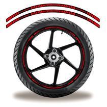 Friso de roda adesivo refletivo cb 3oo r vermelho e preto - Cobra Motoparts