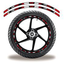 Friso de roda adesivo refletivo cb 500 vermelho e branco - Cobra Motoparts