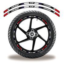 Friso de roda adesivo refletivo cb 500 vermelho preto - Cobra Motoparts