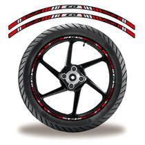 Friso de roda adesivo refletivo cb twister vermelho e preto - Cobra Motoparts