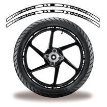 Friso de roda adesivo refletivo factor branco e preto - Cobra Motoparts