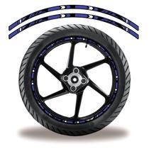 Friso de roda adesivo refletivo honda biz roxo e preto - Cobra Motoparts