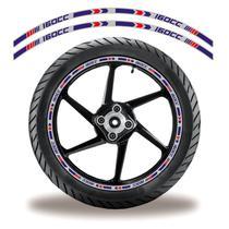 Friso de roda adesivo refletivo honda titan 160 roxo e cinza - Cobra Motoparts