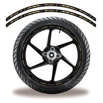 Friso de roda adesivo refletivo moto hornet dourado - Cobra Motoparts