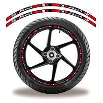 Friso de roda adesivo refletivo yamaha fazer vermelho e branco - Cobra Motoparts