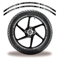 Friso de roda adesivo refletivo yamaha mt03 preto e cinza - Cobra Motoparts