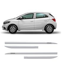 Friso Lateral Chevrolet Onix 2012 a 2019 Protetor Portas Branco Summit Slim 4 peças - FLASH COTRIM