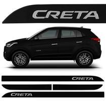 Friso Lateral Creta 2017 a 2020 Preto Onix Alto Relevo - Sean Car