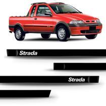 Friso lateral strada 2000 a 2004 - kit 4 peças personalizado - Sanfil