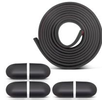 Friso p/ Para-Choque Universal Rolo com 5 metros + kit de ponteiras 6 peças- Auto Colante - Sanfil