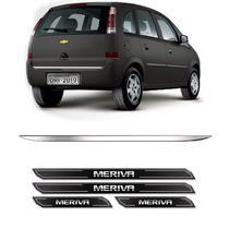 Friso Porta-Malas Chevrolet Meriva + Kit Soleira Protetora - Sportinox