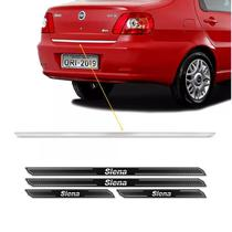 Friso Porta-Malas Fiat Siena 01/09 + Kit Soleira Protetora - Sportinox