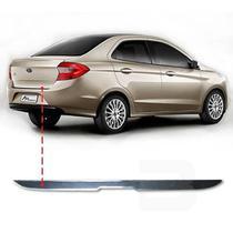Friso Resinado Porta Malas Ford Ka Sedan 2014 15 16 17 18 Cromado - Np Adesivos